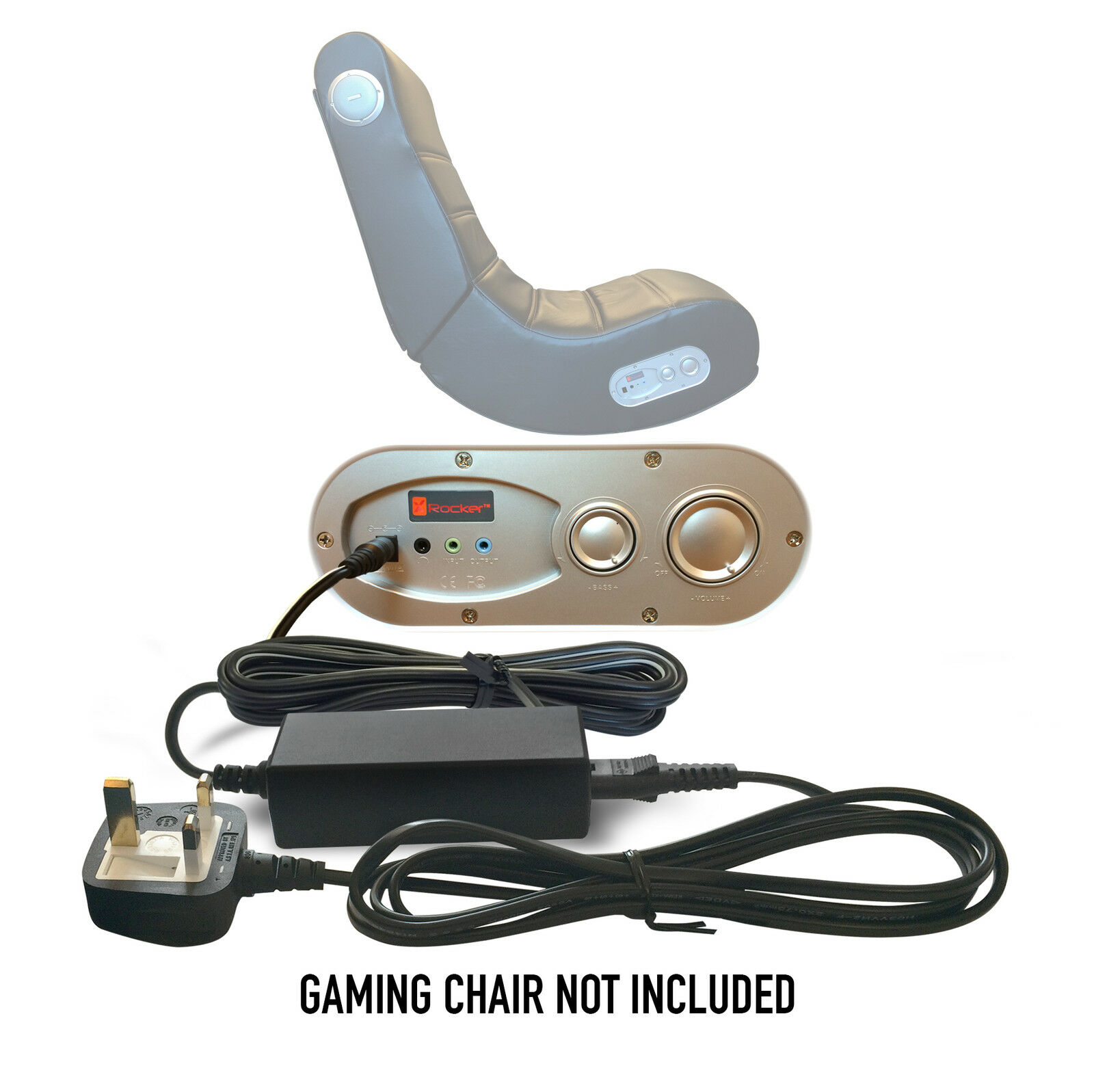 v rocker se gaming chair low profile folding 9v 1a x uk ac dc power supply mains