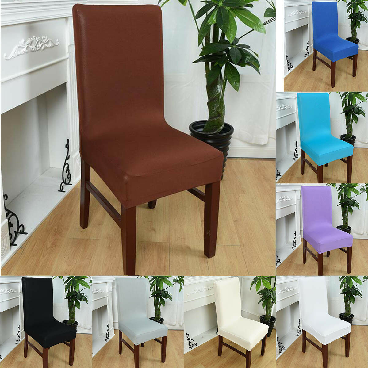 kitchen chair slipcovers swivel amart seat covers dining bar