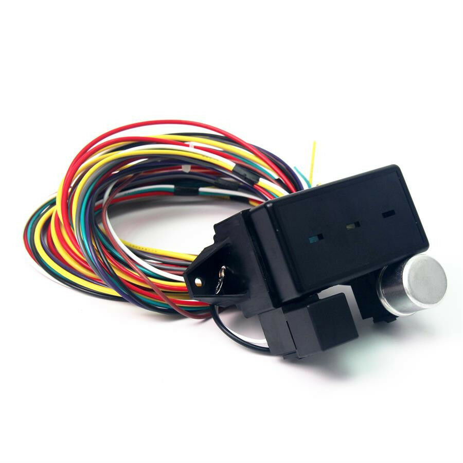 hight resolution of 12v 10 circuit basic wire harness fuse box street hot rat rod wiring car truck 2 2 of 6
