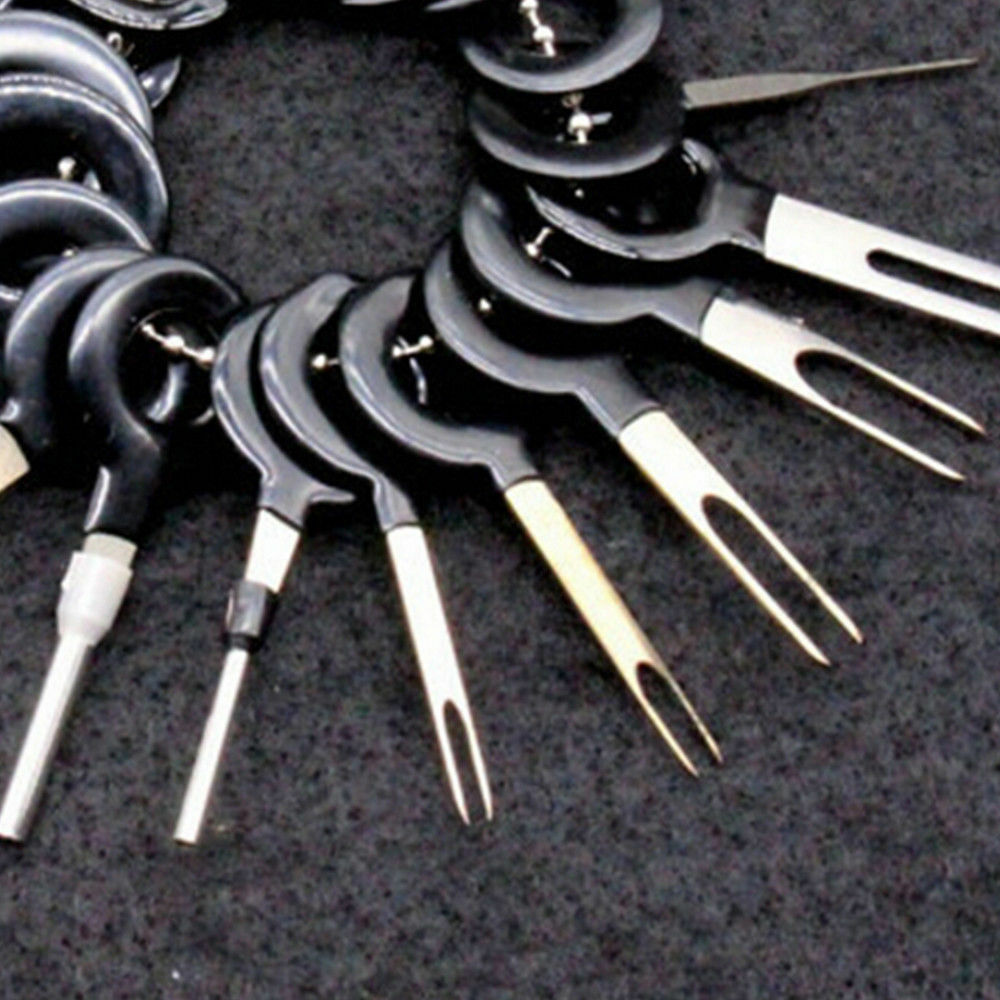 medium resolution of 18x car wire harness plug terminal extraction pick connector pin remove tool set 8 8 of 12