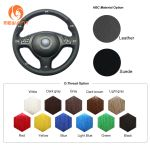 Design Leather Suede Steering Wheel Cover For Bmw E36 E36 5 E46 5 5 Series M3 M5 Car Accessories Steering Wheel Covers