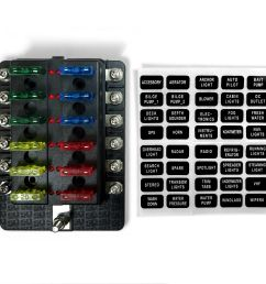 universal 12 way automotive u0026 marine led circuit standard blade fuseuniversal 12 way automotive  [ 1600 x 1600 Pixel ]