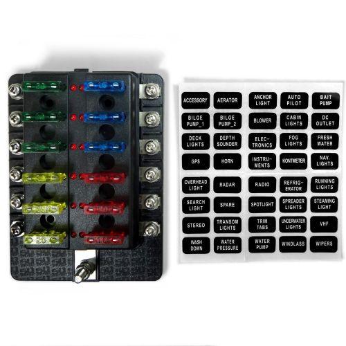 small resolution of universal 12 way automotive u0026 marine led circuit standard blade fuseuniversal 12 way automotive