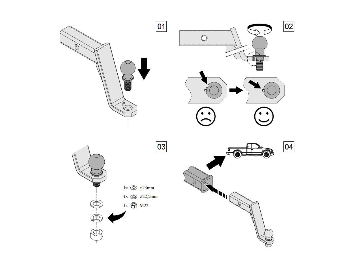 Sfera Per Gancio Di Traino Palla Subaru Forester