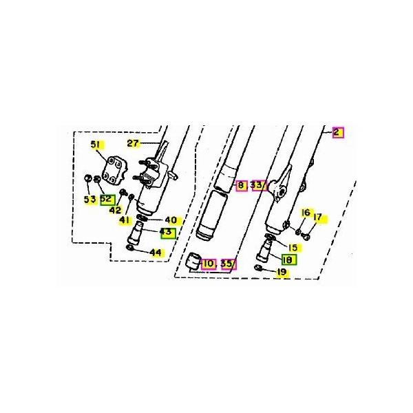 tappo vite regolazione forcella inferiore Yamaha yz 125