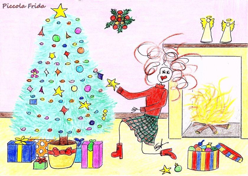 disegno albero di Natale 8 dicembre - illustrazione di Susanna Albini