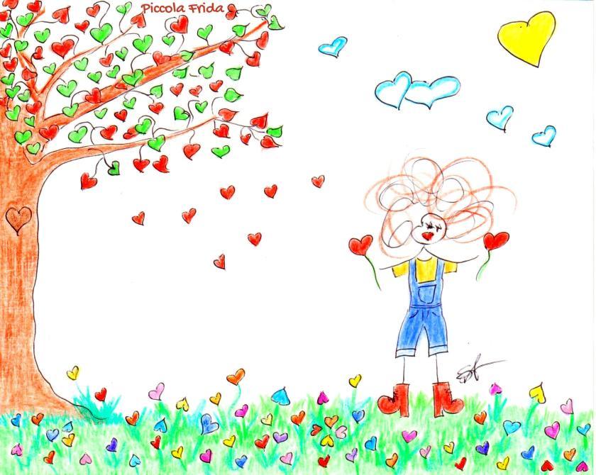 disegno illustrazione un mondo di cuori - amore