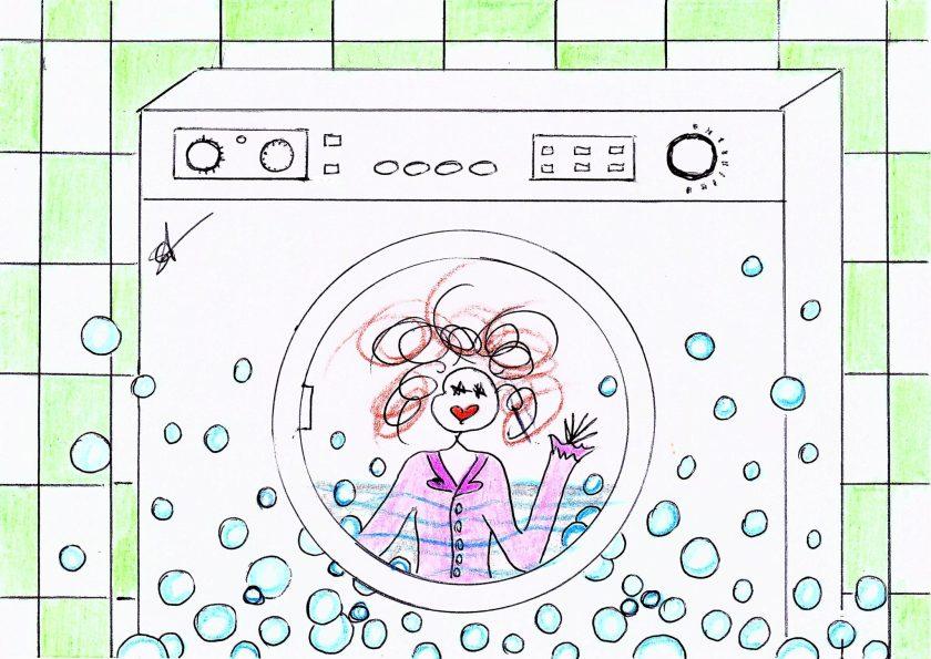 Piccola Frida - disegno lavatrice - illustrazione di Susanna Albini