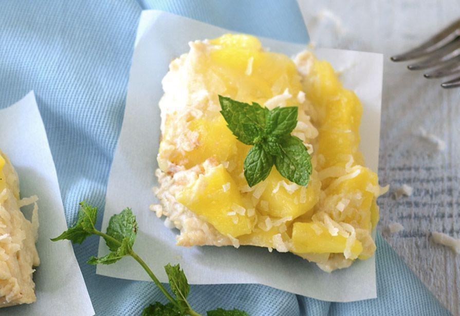 Torta ananas e riso