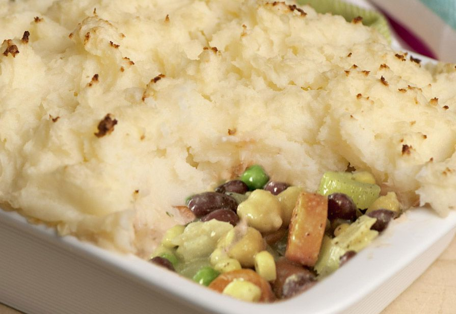 Cottage pie vegetariana