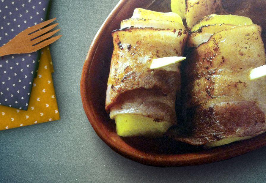 Involtini di groviera e pancetta