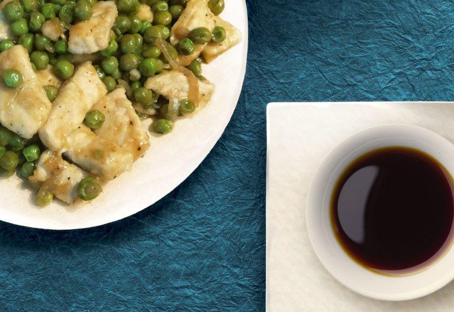 Tacchino e piselli in salsa di soia