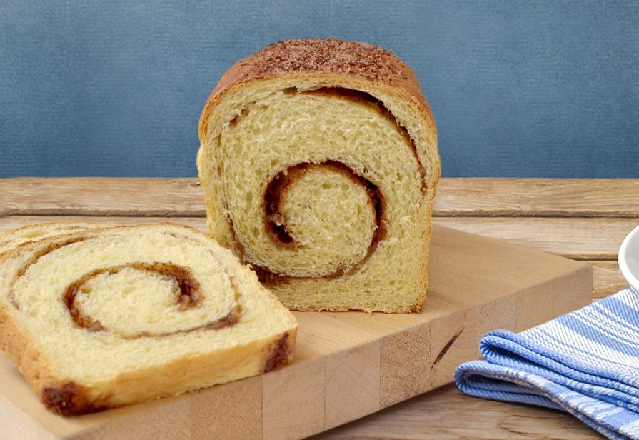 Pane spiralato con nocciole e cacao