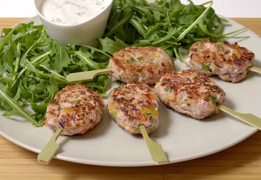 Kofta di pollo alle verdure