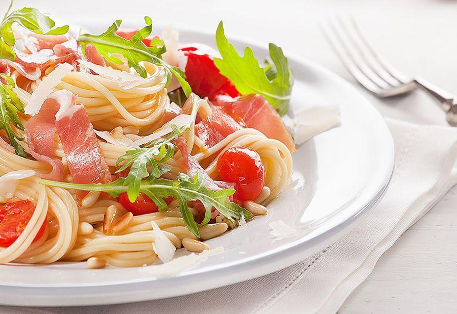 Spaghetti al prosciutto