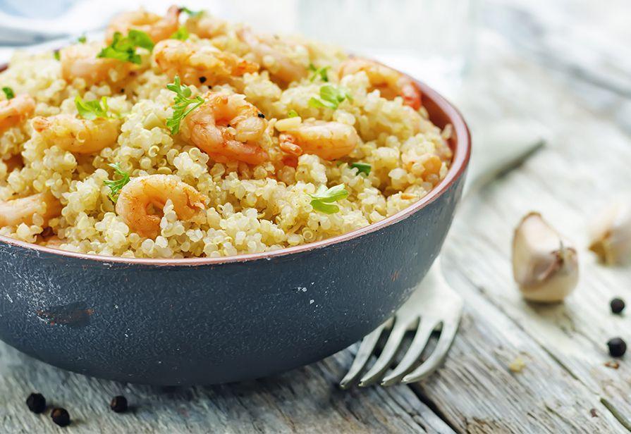 Quinoa ai gamberetti