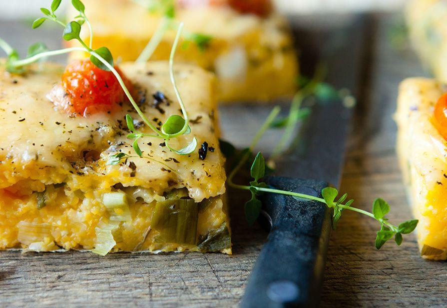 Polenta con porri e formaggio