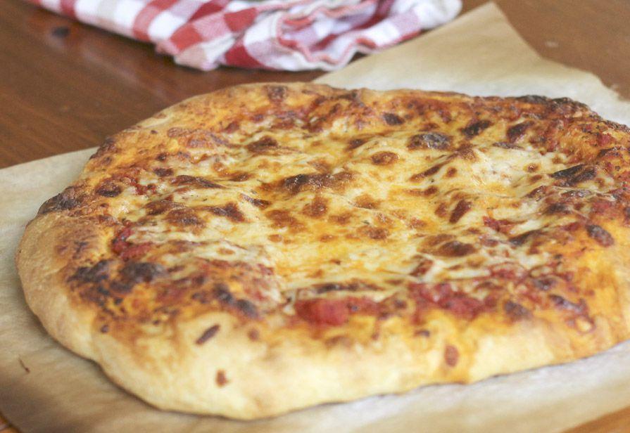 Pizza margherita alta