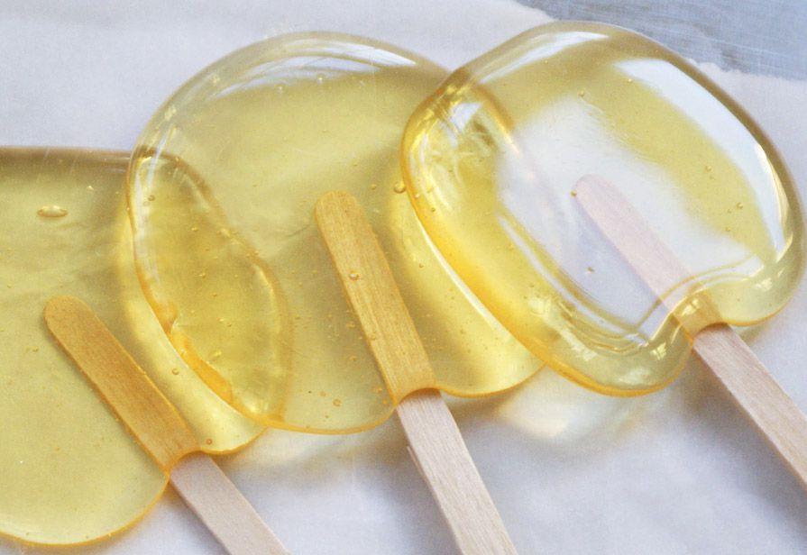 Lecca lecca al succo di arancia