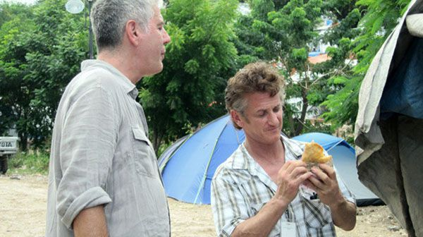 Anthony Bourdain con Sean Penn