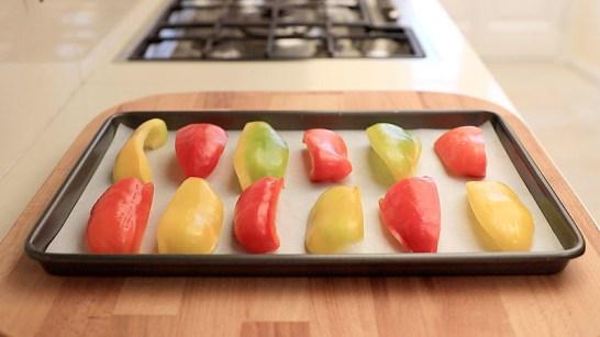 I peperoni sulla teglia
