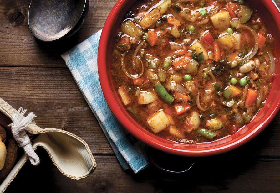 Zuppa ricca di verdure