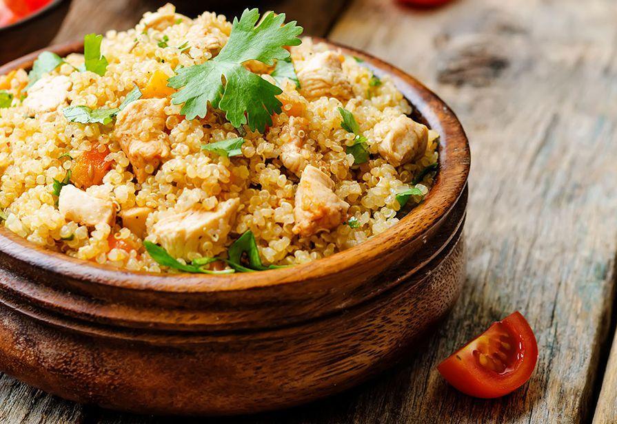 Quinoa al pollo e peperoni