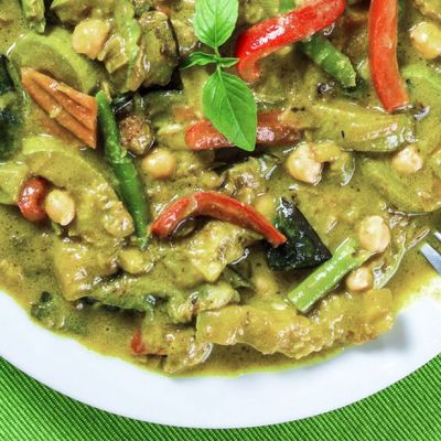 Curry verde Thai alle verdure