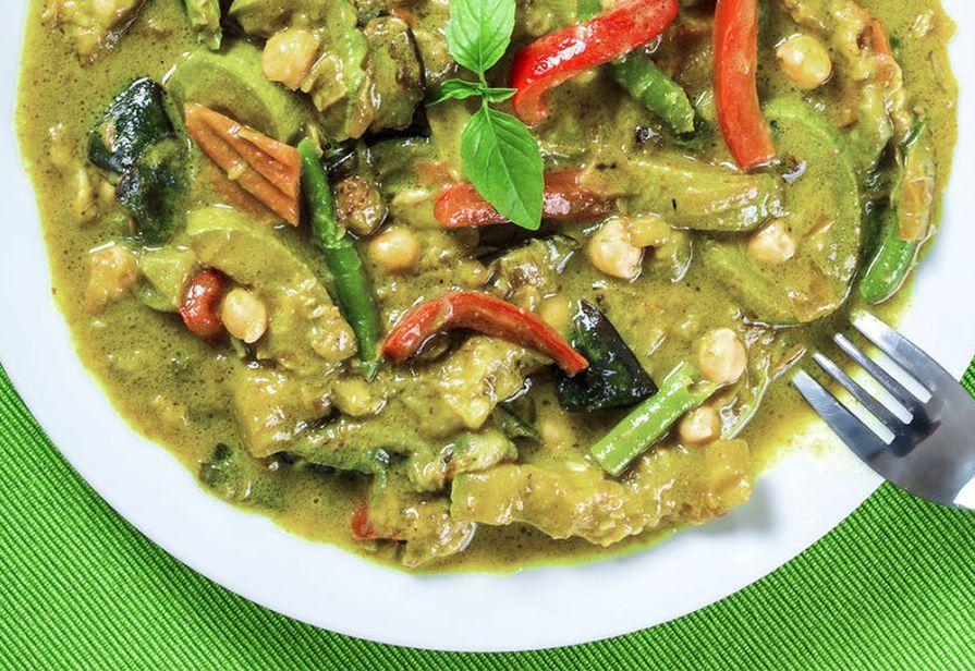 Curry verde Thai alle verdure