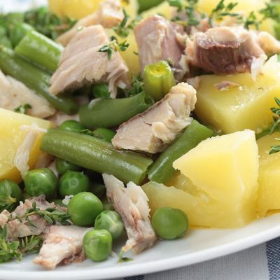 Insalata di tonno patate e fagiolini