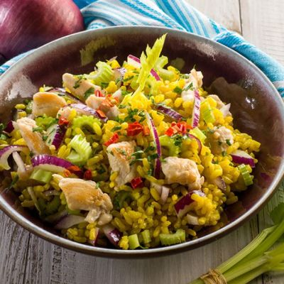 Insalata di riso al pollo