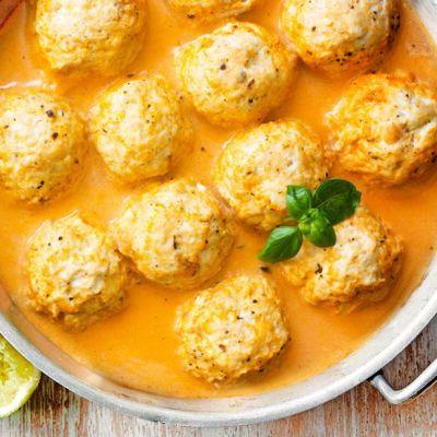 Polpette di pollo al curry Thai