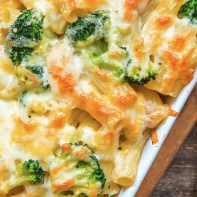 Pasta al forno con broccoli e pollo