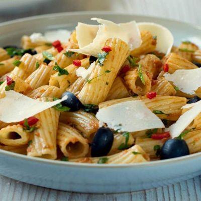 Tortiglioni piccanti alle olive