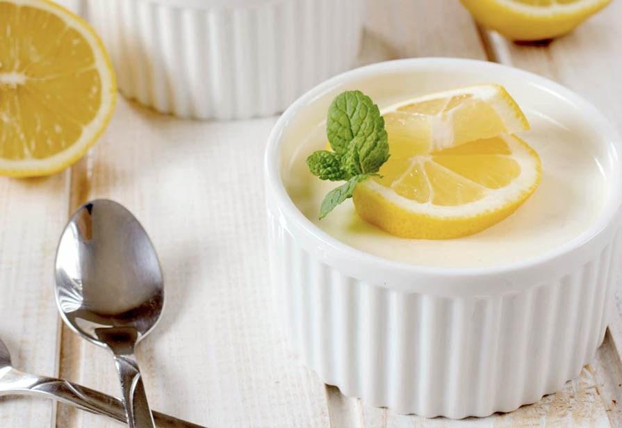 Panna cotta cocco e limone