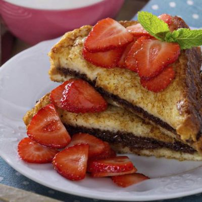 French toast alla Nutella