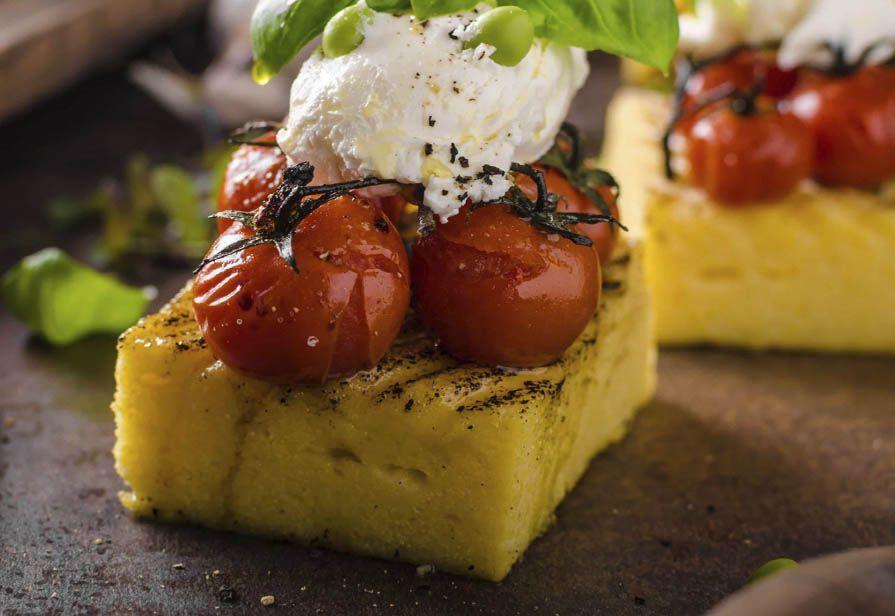 Antipasto estivo di polenta