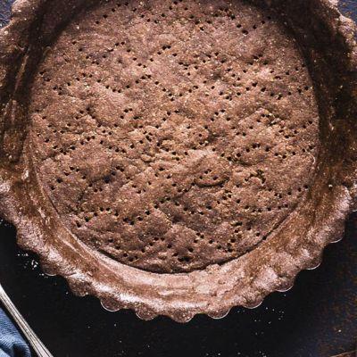 Pie crust al cacao