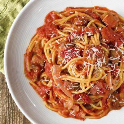 Spaghetti alla pancetta fresca
