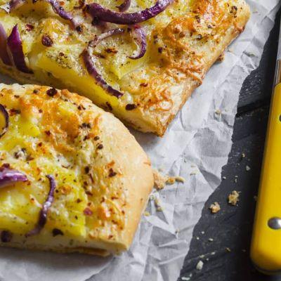 Pizza stracchino e patate
