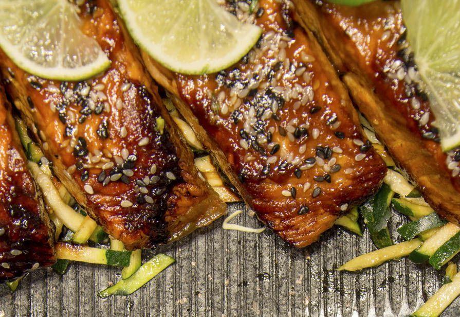 Salmone alla salsa Barbecue