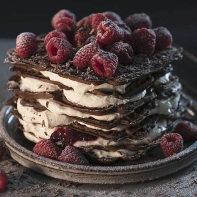 Torre di waffle alla Nutella