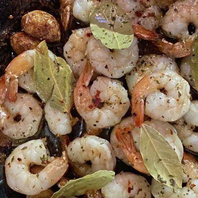 Gamberi aglio e alloro