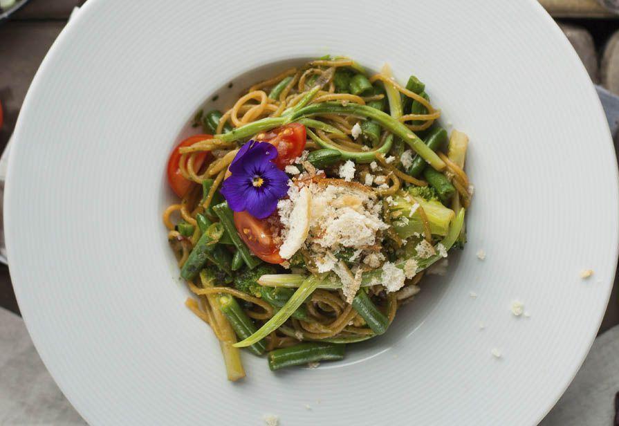 Spaghetti integrali alle verdure