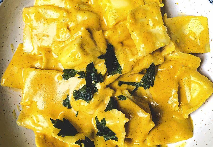 Ravioli di gamberi al curry