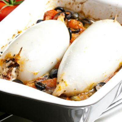 Calamari ripieni di riso