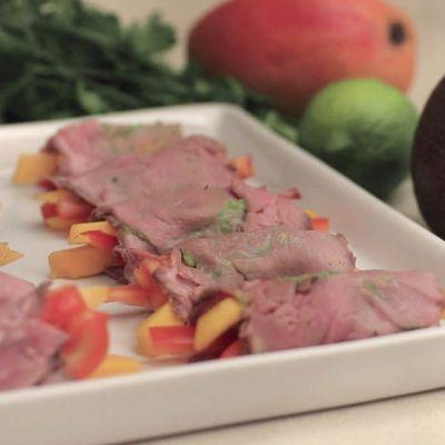 Involtini freddi di roast-beef