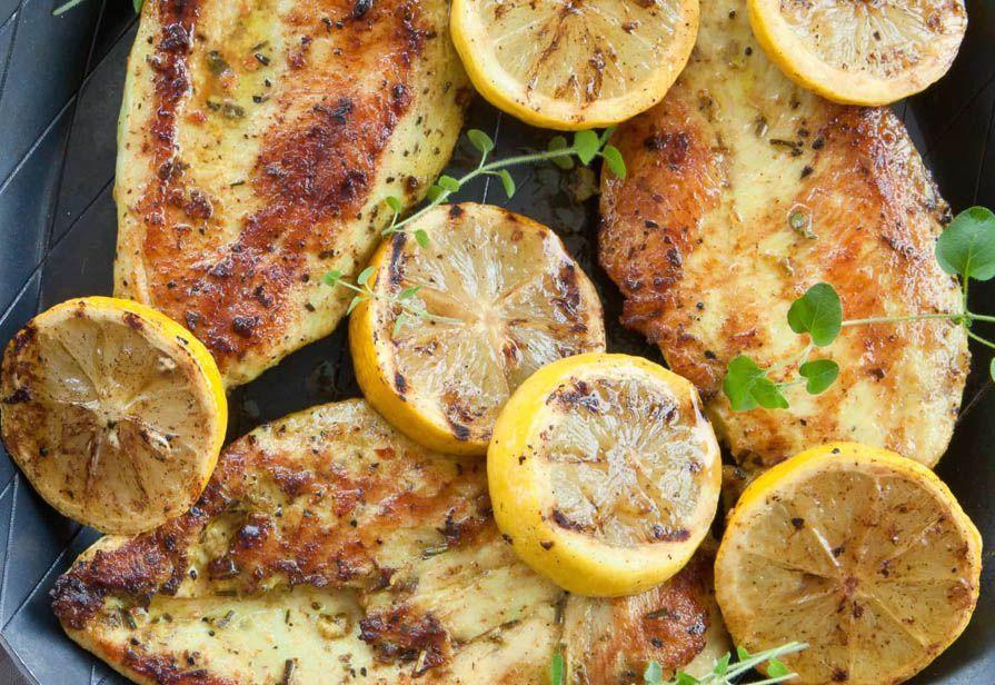 Petto di pollo speziato al limone