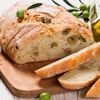 Pane senza impasto alle olive