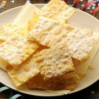 Crostoli al limoncello